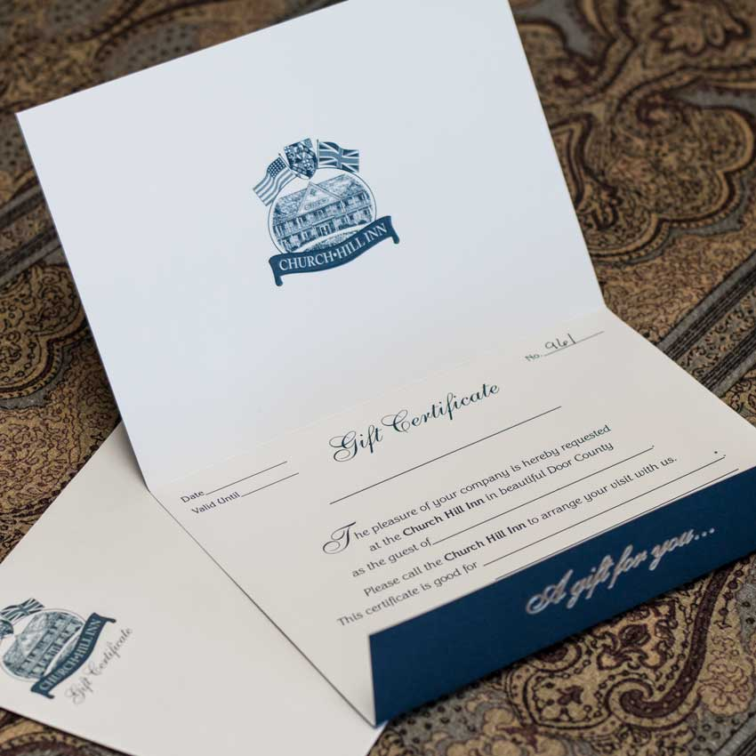 Church Hill Inn Gift Certificate